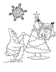 spongebob christmas coloring pages getcoloringpages