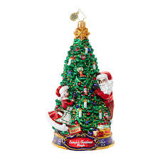christopher radko kringle s mingle deck the halls glass