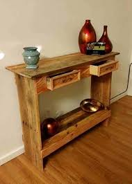 Wood Entry Table Rustic Pallet Wood Entry Hallway Table Pallet Ideas Recycled