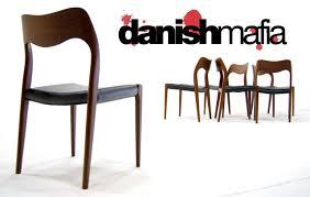 mid century danish modern teak dining chairs jl moller model 71