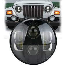 led lights for jeep wrangler jk shop 7 inch led headlight conversion kits 80w bright