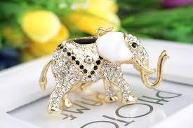 asian crystal ring holder images Fashion rhinestone elephant ms girl women keychain bag jpg
