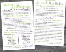printable wedding programs facts wedding program printable
