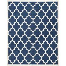 Navy And White Outdoor Rug 6 X 9 Blue Special Buys Outdoor Rugs Rugs The Home Depot