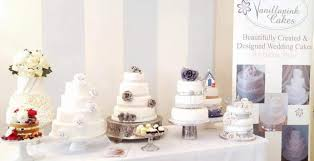 design a cake vanillapink wedding cakes