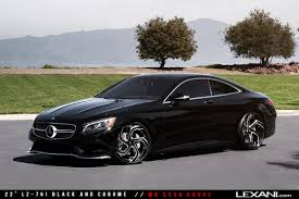 mercedes s550 coupe on lz 761 black and chrome cars pinterest