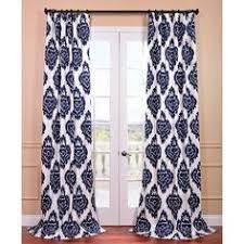 Blue Ikat Curtain Panels Pair Navy Blue Ikat Curtain Panels Drapes Magnolia Home Java