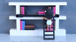 how to build lego in home bookshelf w rolling ladder youtube