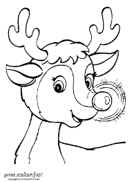 rudolph template flying reindeer pattern use the printable