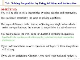 5 1 solving inequalities by addition u0026 subtraction ppt download