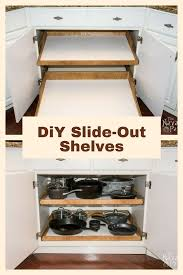 kitchen cabinet slide outs diy slide out shelves a husband and wife want more kitchen cabinet