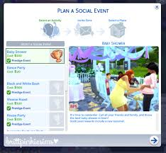 mod baby shower my sims 4 updated the sims 4 baby shower custom event mod