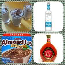 german chocolate cake pudding shots 1 small pkg almond joy