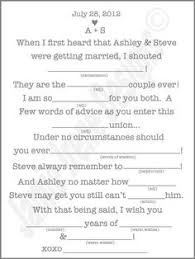unique wedding mad lib this is the mad lib i wrote for my