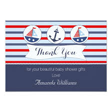 Thank You Cards For Baby Shower Gifts - nautical baby shower thank you card zazzle com