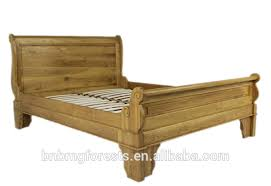Oak Sleigh Bed Antique Solid Wood Bedroom Sleigh Bed Antique Solid Wood Bedroom
