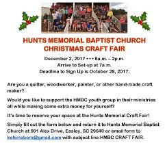christmas craft fair registration deadline piedmont baptist