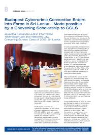 Council Of Europe Convention On Cybercrime Budapest Ccls Alumni Bulletin Issue 10 By Amanda Fletcher Issuu