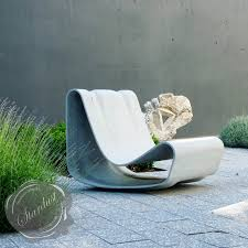 Modern Furniture Outdoor by Loop Chair Modern Concrete Outdoor Chair By Willy Guhl Stardust