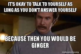 Okay Then Meme - it s okay to talk to yourself as long as you don t answer yourself