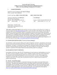 fayetteville state university biol 110 general biology i spring
