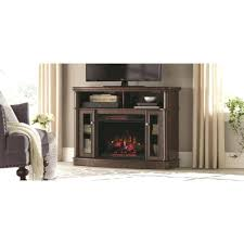 electric fireplace tv stand corner menards oak fresno in white finish