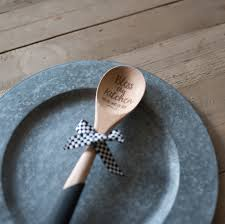 great kitchen gifts laser etched wooden spoons with silicone grip and hand tied ribbon