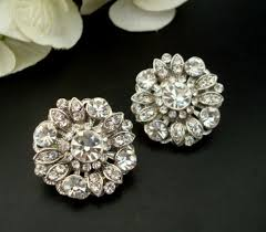 clip on bridal earrings bridal stud earrings clip on earrings statement bridal