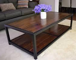 Rustic Walnut Coffee Table Walnut Coffee Table Etsy