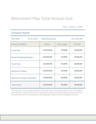 Cost Plan by Planvision Investment Committee Total Cost Worksheet