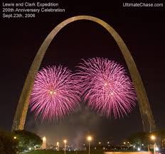 new year s st louis fireworks stock photos st louis arch