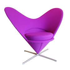 Cone Chair Danish Design Verner Panton Heart Cone Chair Slipper Chairs