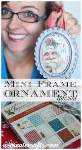 mini frame ornament tutorial at u createcrafts
