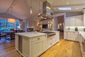 traditional kitchen with flat panel cabinets u0026 complex marble