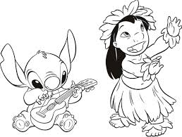 disney coloring pages lilo and stitch free printable online