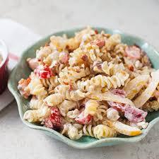 creamy pasta salad recipe creamy pasta salad with salad toppins mccormick