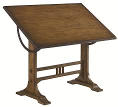 Oak Studio Desk by Mission Weathered Oak Architect Desk By Hammary Wolf And