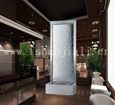 Interior Waterfall Metal Frame Glass Screen Water Fountain Waterfall For Living Room