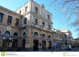 central train railway station baroque architecture plovdiv