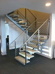 dealership wa modern stainless steel cable and glass railing