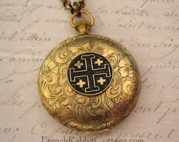 cross locket necklace images Cross locket etsy jpg