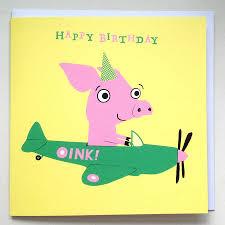 flying pig u0027 birthday card by cardinky notonthehighstreet com