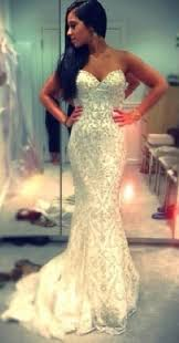 cheap evening gowns discount 2014 sweetheart mermaid white