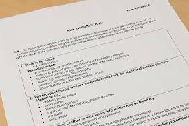 risk assessment form hitecauto us