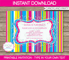 candyland party candyland party invitations template birthday party