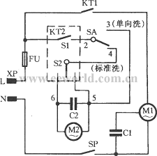 spring timer ordinary double tube washing machine circuit