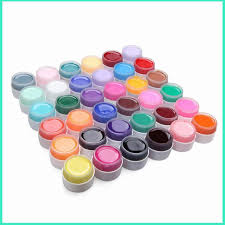 36 pots set pure color decor uv gel color for nail art tips