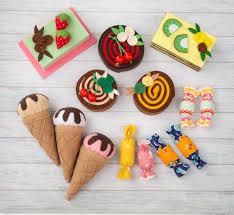 Toy Kitchen Set Food Felt Food Set Doll Food Felt Pretend Play Felt Sweet Felt Toy