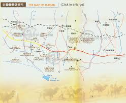 China On A Map by Xinjiang Maps Tourist Sites Turpan