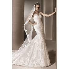 robe de mari e dentelle sirene robe de mariée mariage longue traîne col v sans manches dentelle